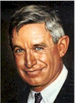 painted portrait of Will Rogers