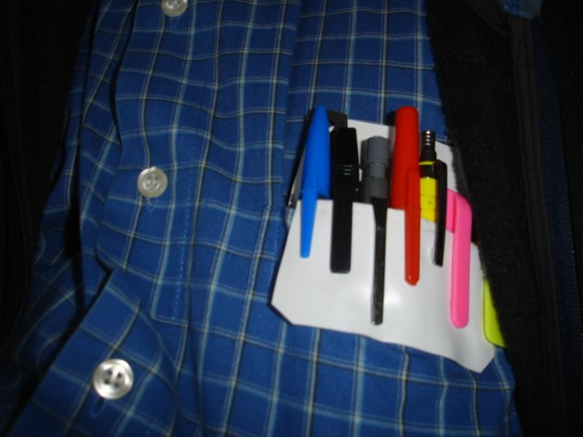 Pocket protector with pens