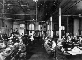 New Orleans Item newsroom, circa 1900