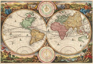 Stoopendaal Map of the World - 1730