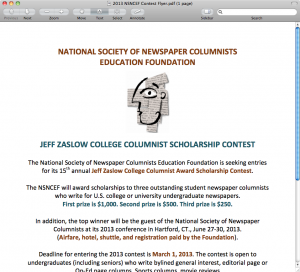 2013 Scholarship Poster