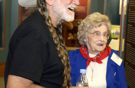 Mattie Dellinger with Willie Nelson