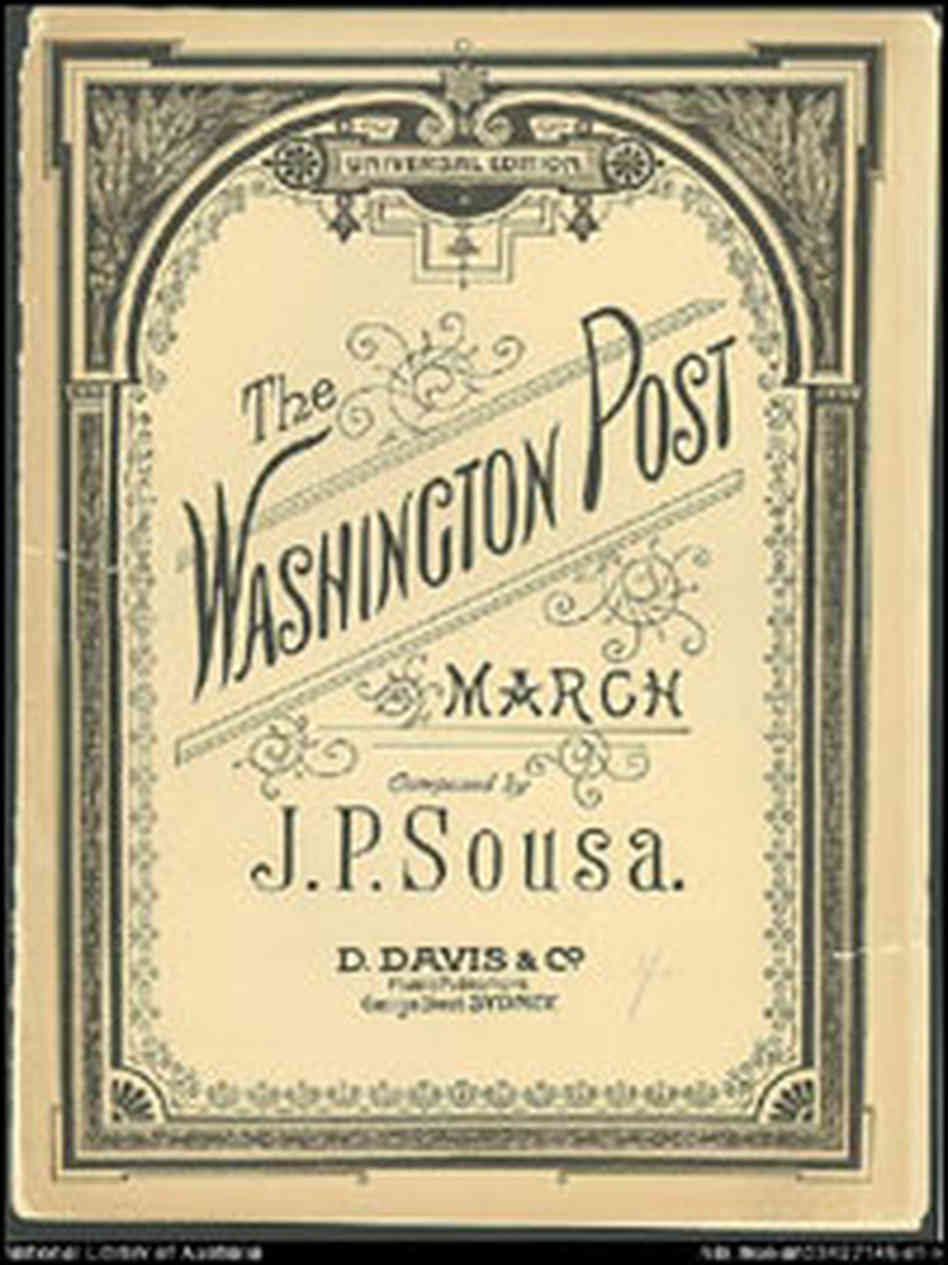 'The Washington Post March' score, John Philip Sousa, 1889.