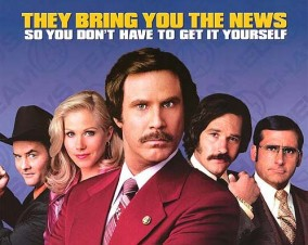 Poster for the first Anchorman movie