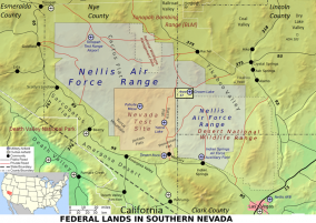 Federal Lands in Southern Nevada, including Area 51. Map by Finlay McWalter