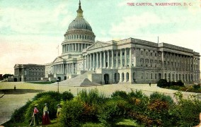 Postcard of U.S. Capitol mid-19th century
