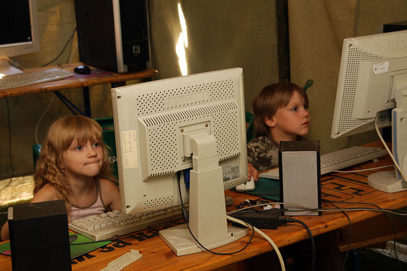 Internet cafe, Ukrainian Scout Jamboree 2009