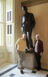 Bob and Mary Haught with Will Rogers