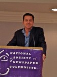 John Avlon addresses the National Society of Newspaper Columnists June 28, 2014, at the Washington Plaza Hotel.