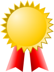 award certificate ribbon winner