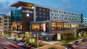 Exterior of The Alexander, Indianapolis hotel