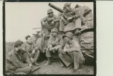 Ernie Pyle is at center. Photo courtesy Ernie Pyle Legacy Foundation