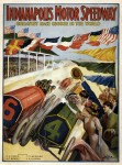 1909 poster advertising the Indianapolis Motor Speedway (which opened in 1909). Public domain