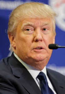 Donald Trump, March 2015. Wikipedia Commons