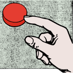 Clip art of finger pushing a button