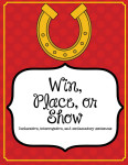 illustration of win-place-show with a horseshoe