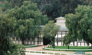 The stable at Will Rogers' ranch, now Will Rogers State Historic Park in Pacific Palisades