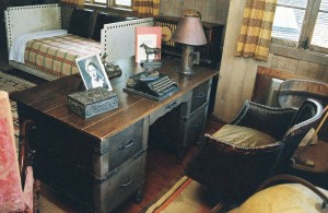 The study at Will Rogers' ranch house, now in Will Rogers State Historic Park in Pacific Palisades