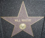 Will Rogers' star on the Hollywood Walk of Fame