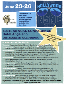 Poster for the NSNC16 - Los Angeles conference of the National Society of Newspaper Columnists