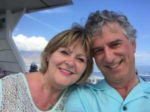 Karen and Dave Lieber enjoy a whale-watching excursion during a Hawaiian vacation.