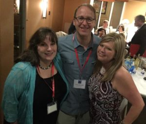 Ginger Lumpkin with Jill Brehm Enders and Jim Hands. Photo courtesy of Ginger.